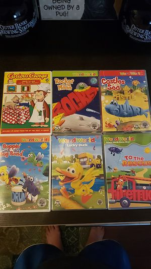Word world & curious george dvds for Sale in Fairless Hills, PA