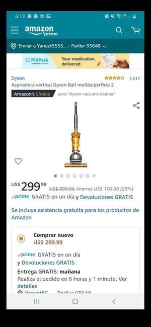 Vacuum Dyson dc14 for Sale in Parlier, CA