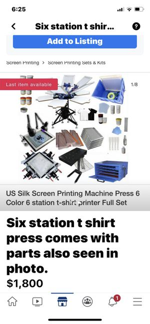 Complete six station t shirt press for Sale in Apalachin, NY