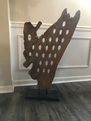 Indonesian wood abstract art piece. for Sale in Kirkland, WA