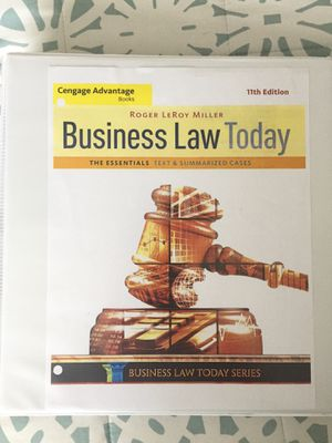 Business Law Today 11th Edition Roger LeRoy Miller for Sale in Sacramento, CA
