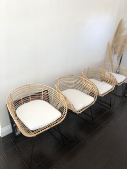 Studio McGee dining Chairs rattan for Sale in Pasadena,  CA