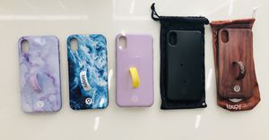 Five iPhone X Loopy cases with loops! for Sale in Eagle Mountain, UT
