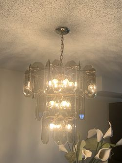 Beautiful Vintage Smoke Glass/ 3 Tier Chandelier for Sale in Delray Beach,  FL