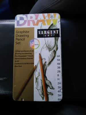 Drawing graphite drawing pencil set by Sargent Art 12-pack in pencil set for Sale in Santa Ana, CA