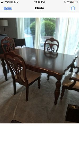 Table chairs/Dining room. Upholstered chairs. Beautiful set for Sale in Yardley, PA