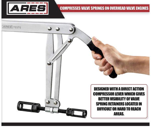 ARES 70370 - Valve Spring Compressor - Compresses Valve Springs on Overhead Valve Engines - Direct Action Compressor Lever Gives Better Visibility Du