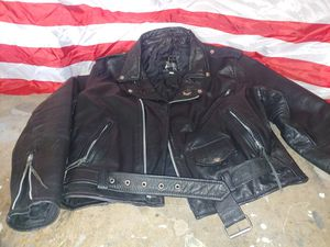 Vintage leather motorcycle jacket size 44 heavy duty for Sale in San Diego, CA
