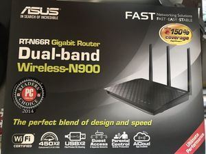 ASUS RT-66R Dual-Band Wireless N900 Gigabit Router for Sale in Las Vegas, NV