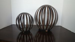 Decorative set,brown tortoise finish on metal, large one is 10 inches tall for Sale in Miramar, FL