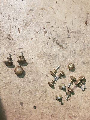 Antique solid brass dresser knobs for Sale in Stayton, OR