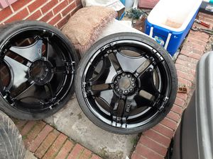 Xoni 20 inch wheels off of an 04 nissan maxima..tires good for Sale in Wake Forest, NC