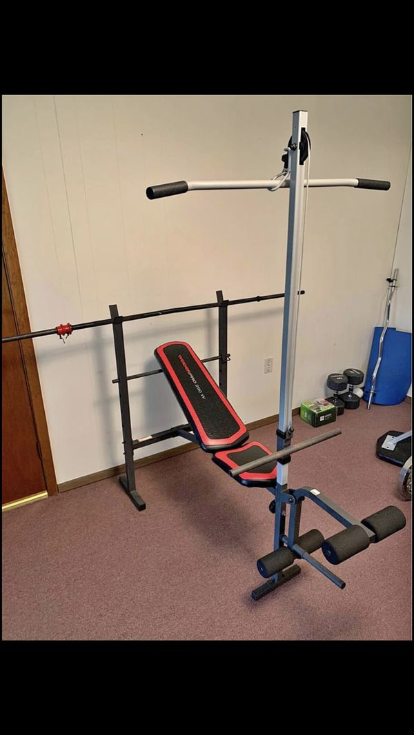 Weight bench no weights or barbell.