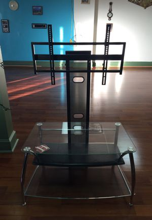 2 layer glass TV stand for Sale in Martinsburg, WV