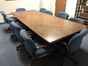 Large Conference Table and Chairs for Sale in Dallas, TX