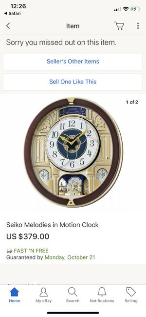 Seiko special edition wall clock almost new in box great clock antique for 300$ perfect for thanksgiving and Christmas gift for Sale in Bellevue, WA