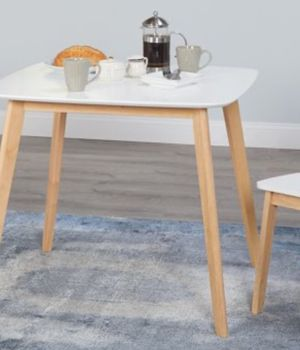 New!! Table, rectangle table, side table, breakfast table, snack table, kitchen furniture, white and natural for Sale in Phoenix, AZ