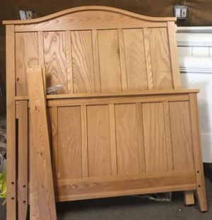 Frame Twin bed solid wood (not included mattress) for Sale in San Mateo, CA