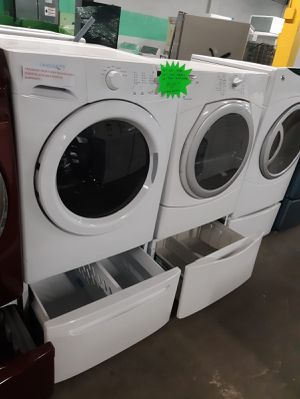 MIX AND MATCH FRONT LOAD WASHER AND DRYER WITH PEDESTAL IN EXCELLENT CONDITION $399.00 for Sale in Baltimore, MD