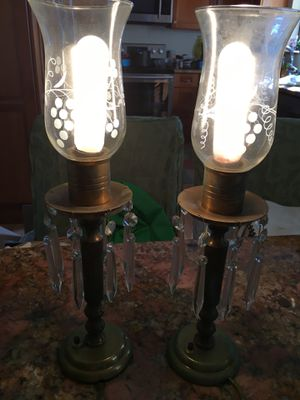 Antique table lamps. Electric. Good condition for Sale in FL, US