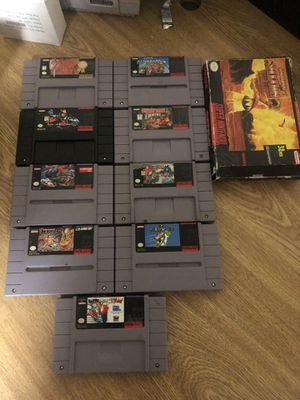 Super Nintendo games Snes for Sale in Sanger, CA