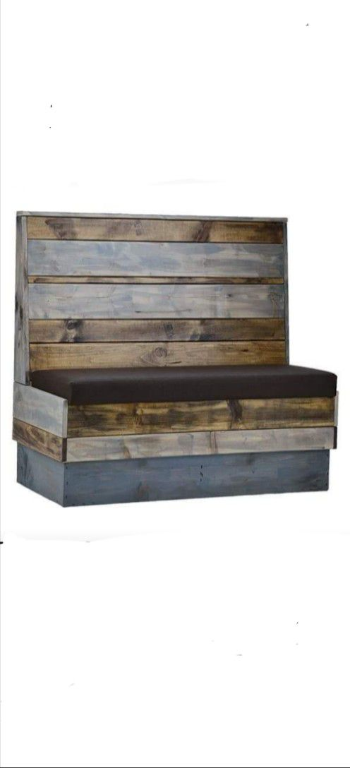 """Wood Restaurant Booth Size:24""""d x 36"""" h x 48""""w"""