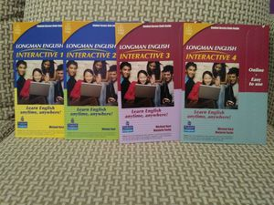 BUNDLE OF 4 LEVELS: LOGMAN ENGLISH INTERACTIVE, ONLINE VERSION, AMERICAN ENGLISH ( ACCESS CODE CARD). BRAND NEW!!! for Sale in Tamarac, FL
