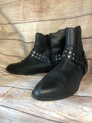Hunters Run Black Leather Zip Boots Womens Size 12 WW Style 35-3506-9 for Sale in East Los Angeles, CA