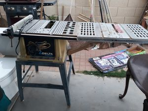 Delta table saw with extended table for Sale in Buckeye, AZ