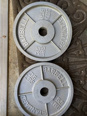 35lb Olympic weight plates PAIR for Sale in Durham, NC