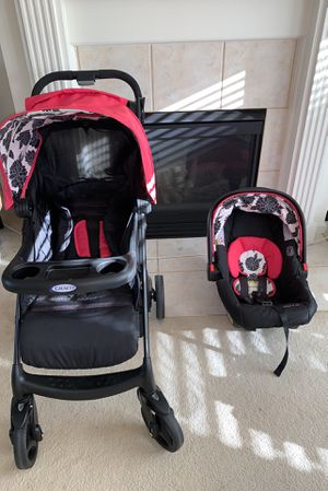 Make An Offer! Graco Car Seat Click Connect Travel System Stroller -Expires 2026 for Sale in Florence, KY