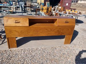 King Size Headboard with Storage Drawers for Sale in Hesperia, CA