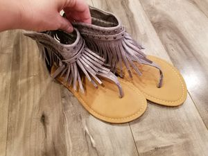 Silver fringe sandals for Sale in Waianae, HI