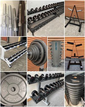 Dumbbells, Racks, Weight Trees, Barbells, Bumpers, Adjustable Dumbbells, Olympic Weight Plates for Sale in Davenport, FL