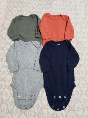 Lot 4 carters baby boy bodysuit 3 months for Sale in Chicago, IL