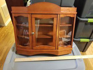 Wood glass shelf cabinet curio display for Sale in Nashville, TN