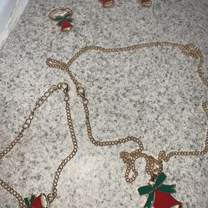 Christmas Jewelry Set: Earrings, Ring, Bracelet And Necklace for Sale in Bartow, FL
