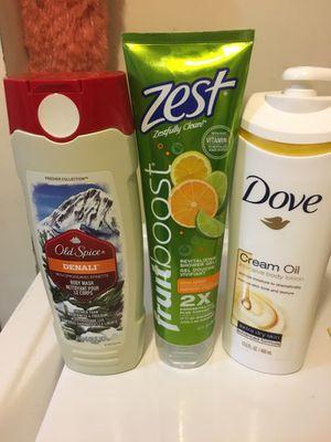 Zest Fruit Boost, Old Spice Denali, Dove Cream Oil for Sale in Long Grove, IL
