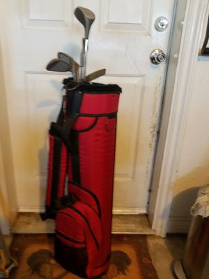 6 Golf Club with Balls and Carrier Set Vintage VGC 1 Owner Yes still Available for Sale in Oak Hills, CA
