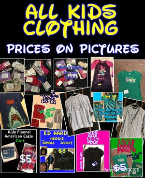 All Kids clothing. Diff sizes, & diff prices. Ed Hardy Hoodie, South pole jacket, sports bras, & more for Sale in Cincinnati, OH