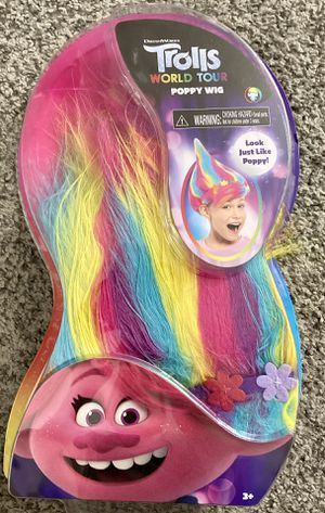 Trolls Multi-color Wig Costume play for Sale in Margate, FL