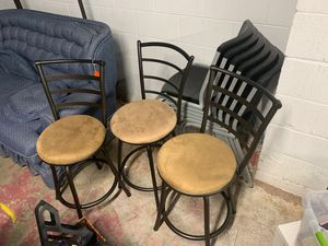 3 bar stools for Sale in Viola, IL