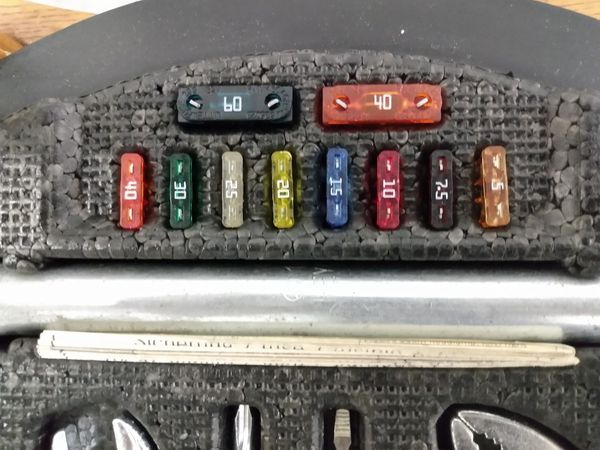 Tool kit for Mercedes Benz never used every fuse and tool is in place.