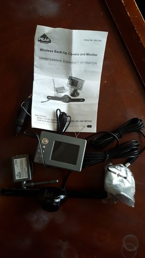 Wireless back up camera and monitor for Sale in Sudley Springs, VA