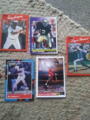 Various late 80s early 90s Baseball/Basketball/Football Cards for Sale in Parma, OH