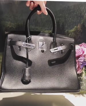 Hermes Black Birkin 30cm Leather with Silver Hardware for Sale in West Covina, CA