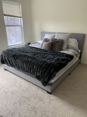 Large California King bed + box spring ($300 total) for Sale in Jersey City, NJ