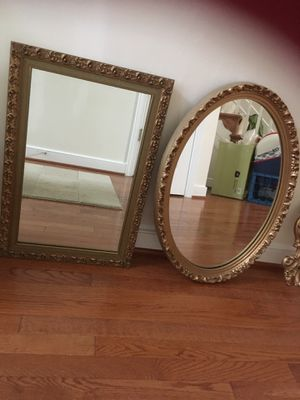 2 framed wall mirrors for Sale in Columbia, MD