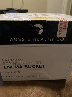 Aussie health com. Stainless steel enema bucket for Sale in Tampa, FL
