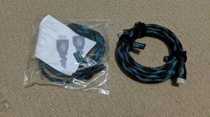 HDMI 2.0b (latest version cables) 4K - 10 inch 2 cables for Sale in Charlotte, NC